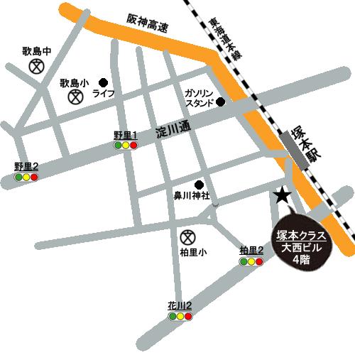 PLAヨガ_地図_塚本と歌島